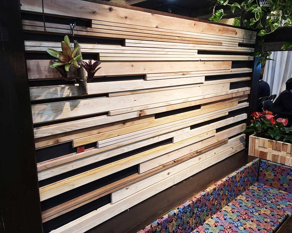 ウッドタイル ボーダレスカフェ 内装材 大問屋