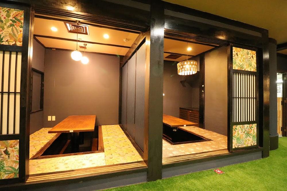 和モダン ボーダーレスカフェ ウッドデザインパーク